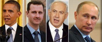 Obama, Assad, Netanyahu, Putin