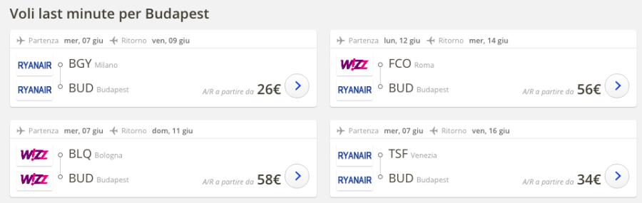 Voli low cost Bergamo - Budapest