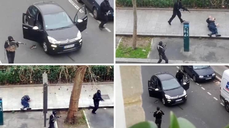Charlie Hebdo - Alcuni frammenti del filmato