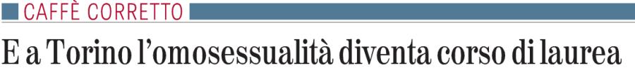 A Torino l'omosessualità diventa corso di laurea