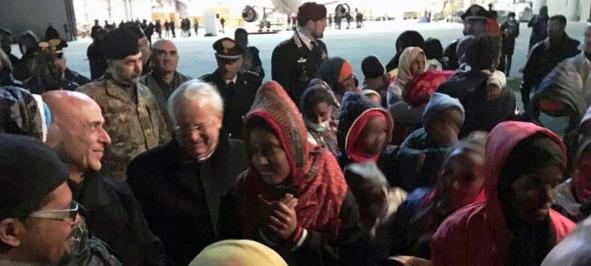 Migranti arrivati in volo militare