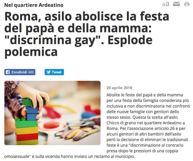 Via festa papà e mamma. Discrimina coppie gay.png
