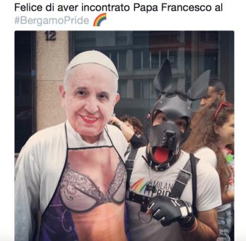 Papa Francesco Bergamo pride