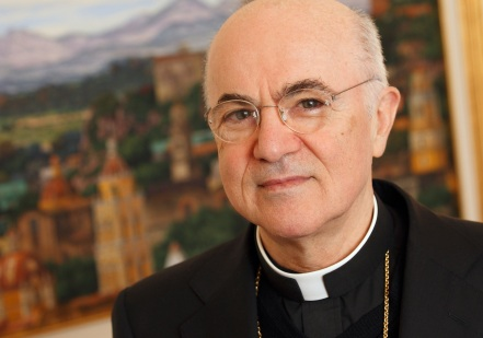 Italian Archbishop Carlo Maria Vigano, the new apostolic nuncio to the United States, is pictured at his residence at the Vatican Oct. 20. He succeeds the late Archbishop Pietro Sambi. (CNS photo/Paul Haring) (Oct. 20, 2011) See NUNCIO-VIGANO (UPDATED) Oct. 19, 2011.