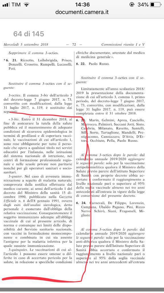 Obbligo vaccinazione personale scolastico Gazzetta ufficiale.jpg