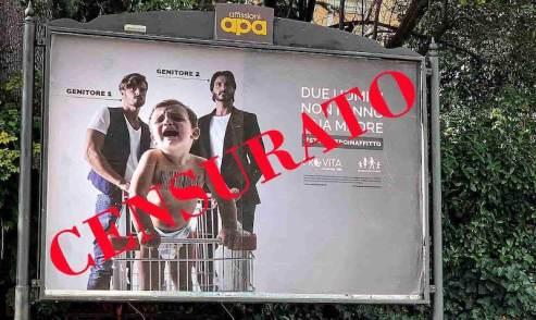 Provita, manifesto utero_in_affitto Roma