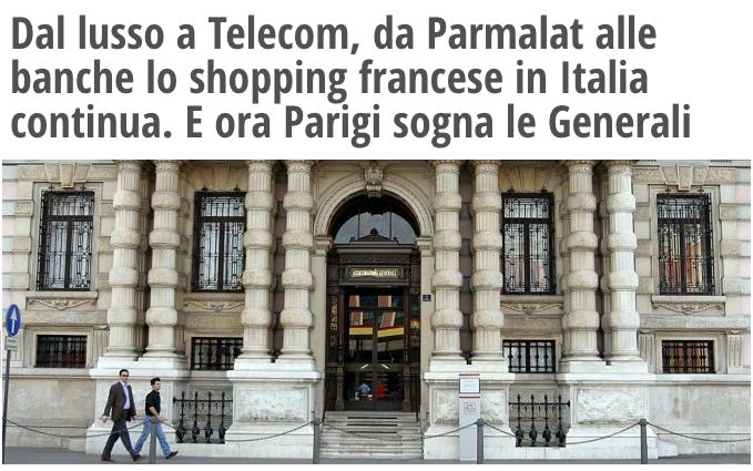 Acquisti Francia in Italia