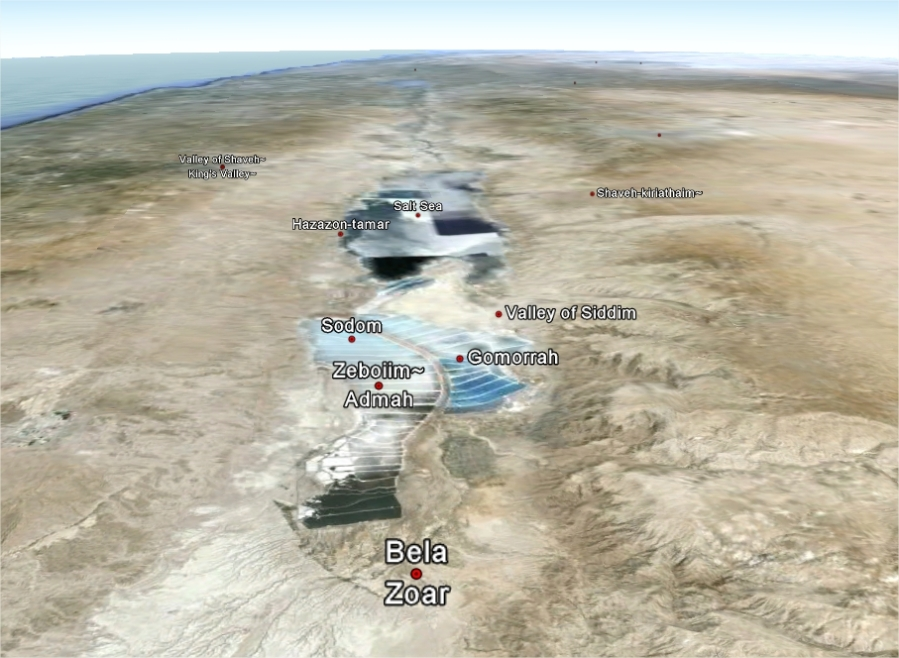 vaduta googlemaps della valle di Siddim