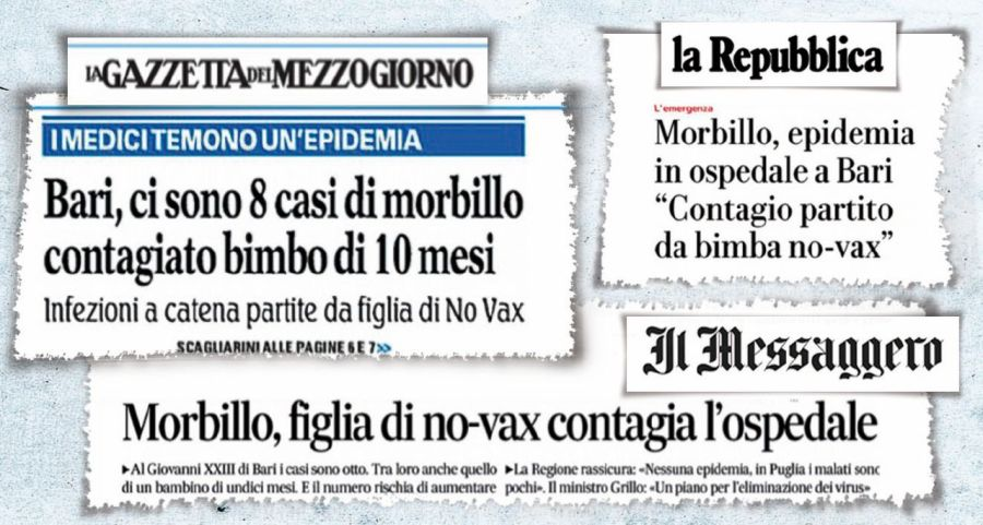 Morbillo a Bari, epidemia mediatica.jpg