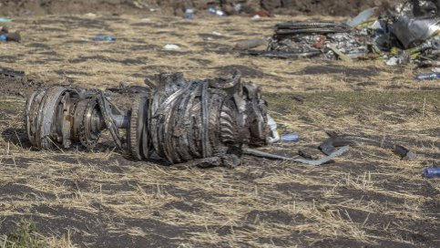 Turbina aereo etiope caduto