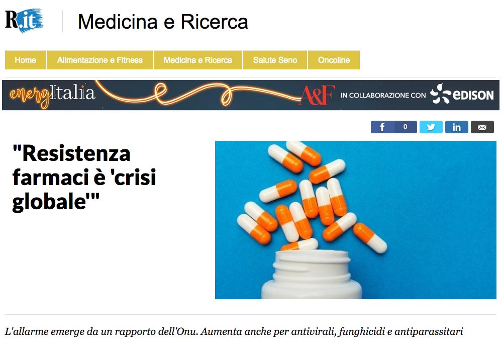 Resistenza ai farmaci, crisi globale.png