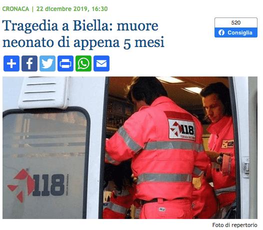 News Biella SIDS 22:12:2019