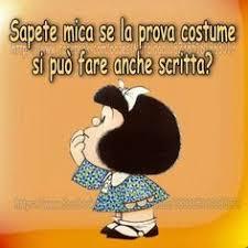 Mafalda prova costume