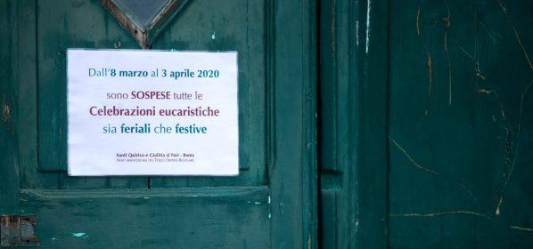Chiesa chiusa per virus