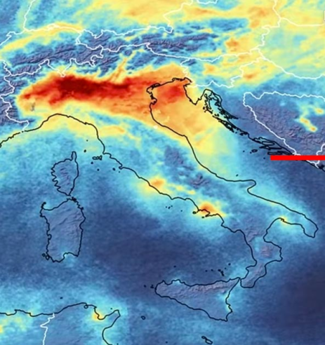 Inquinamento pianura Padana 2020
