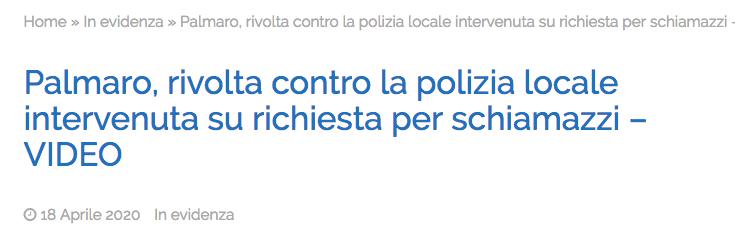 Articolo Genova quartiere Palmaro