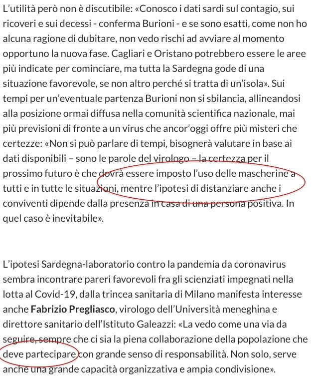 Testo dichiarazioni Burioni e Pregliasco sulla Sardegna.jpg