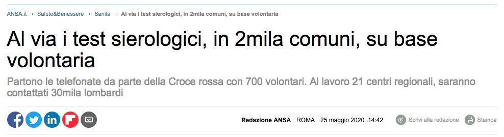 Ansa, chiamate dalla Croce Rossa