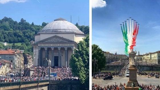 Frecce tricolori Torino Gran Madre 25:05:2020