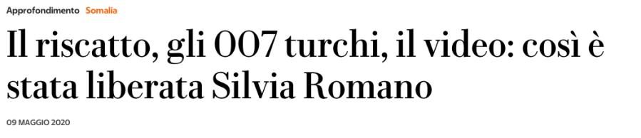 Silvia Romano libera