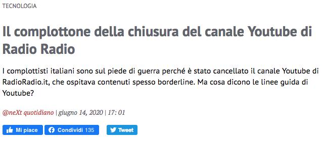 Chiusura RadioRadio - Next quotidiano