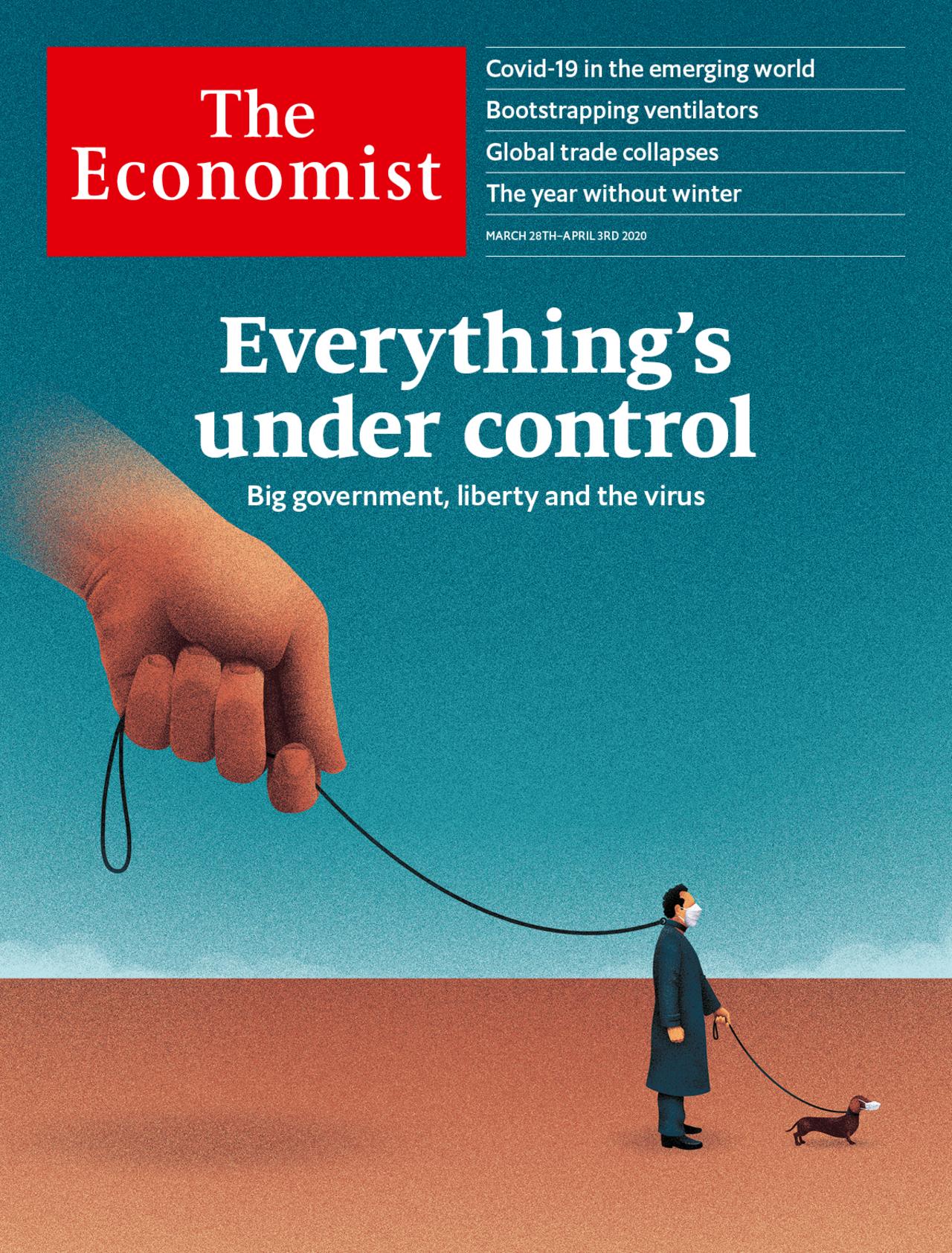 Copertina The economist marzo 2020