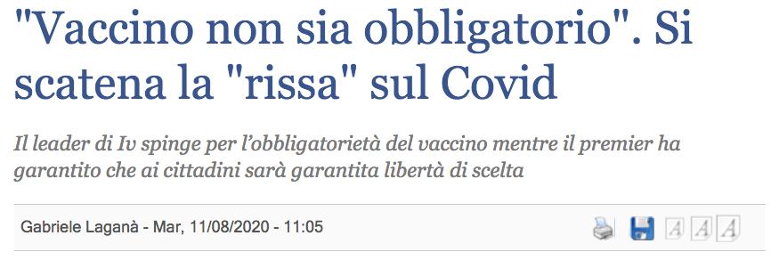 Conte vaccino covid non obbligatorio