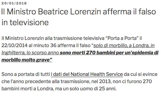 Lorenzin mente sui casi di morbillo.png