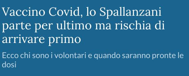 Vaccino Covid Spallanzani